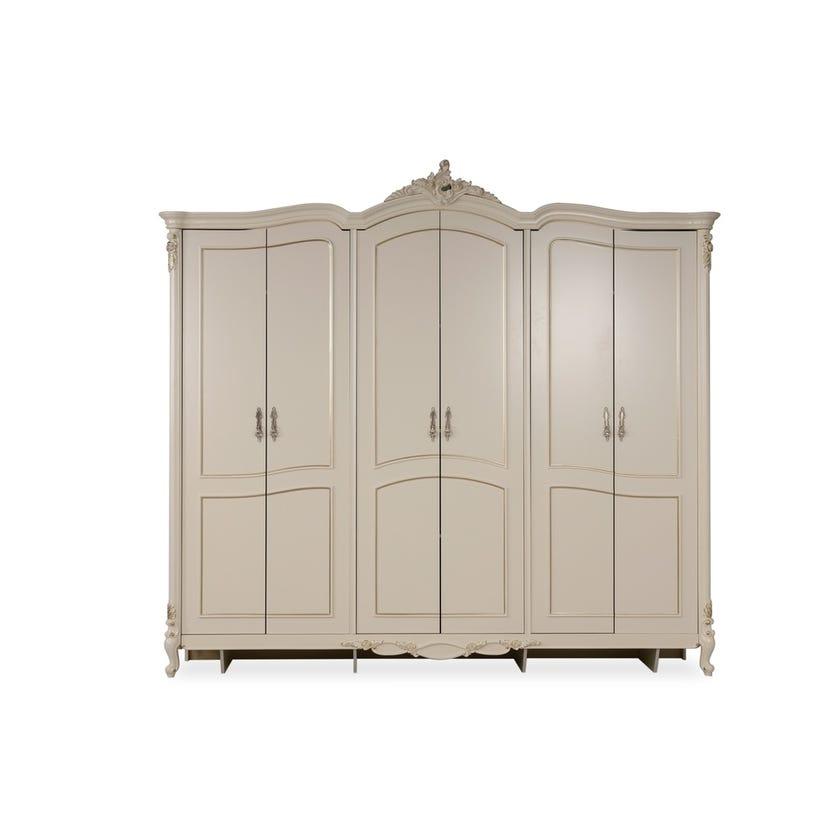 Isabelle Engineered Wood 6-door Wardrobe - Beige