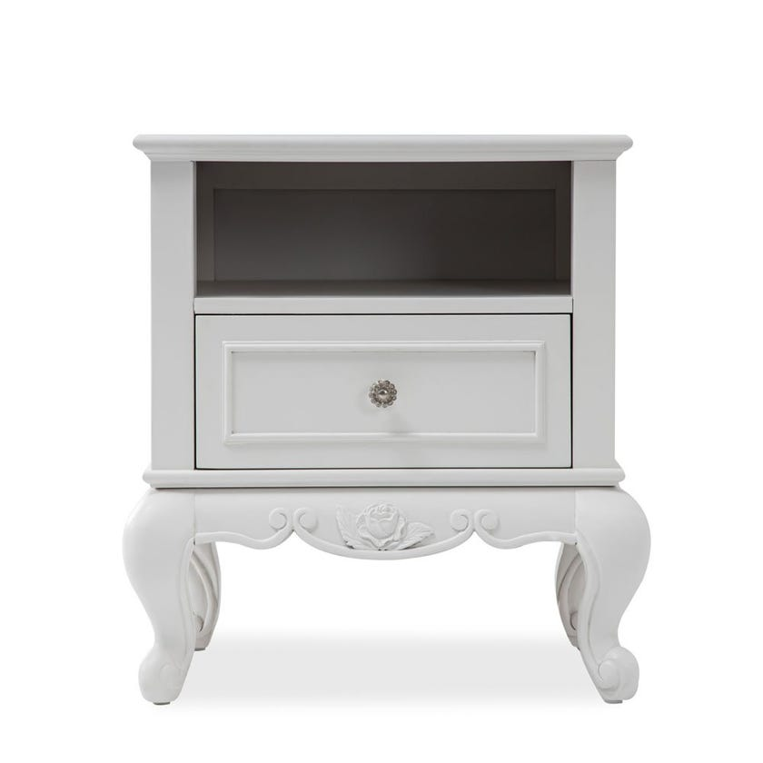 New Louis 1-drawer Nightstand with Open Shelf