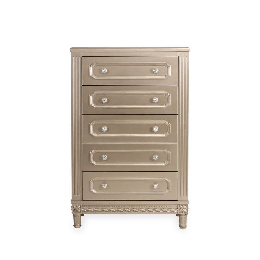 Melika 5-drawer Chest - Gold