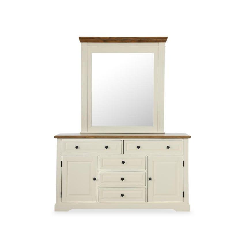 Georgia 5-Drawer 2-Door Dresser with Mirror