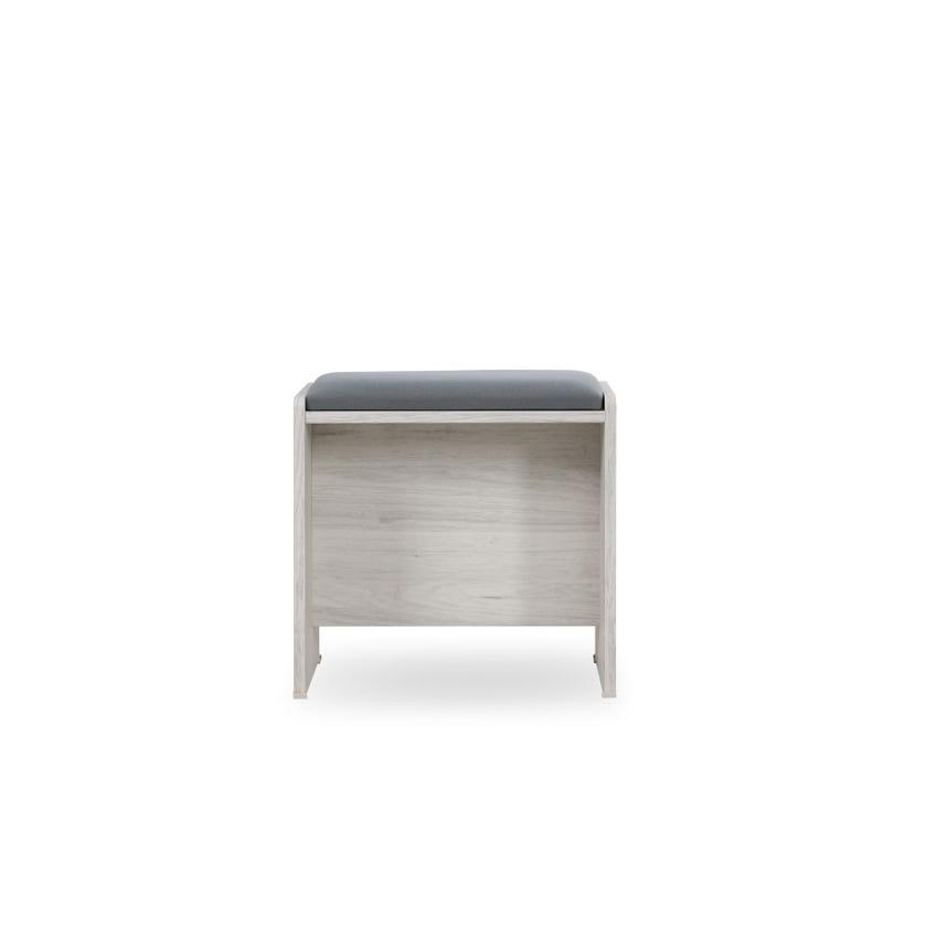 Juhu Engineered Wood Dresser Stool - White