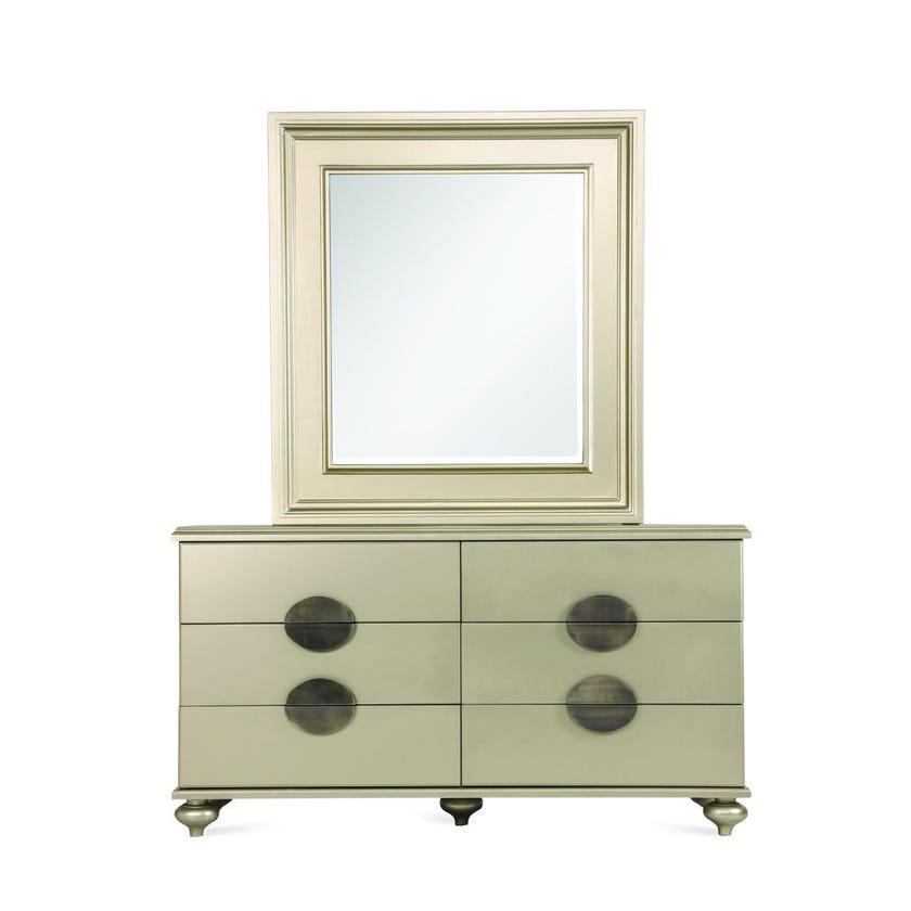Boston Engineered Wood 6-door Dresser with Mirror and Stool