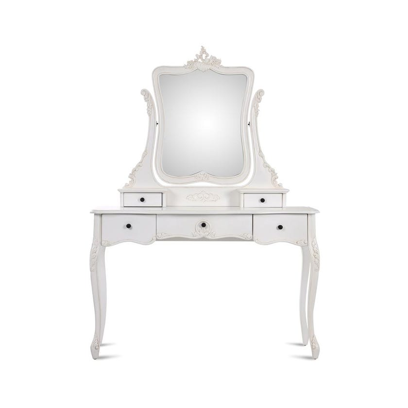 Antiq Louis 5-Drawer Dresser with Mirror