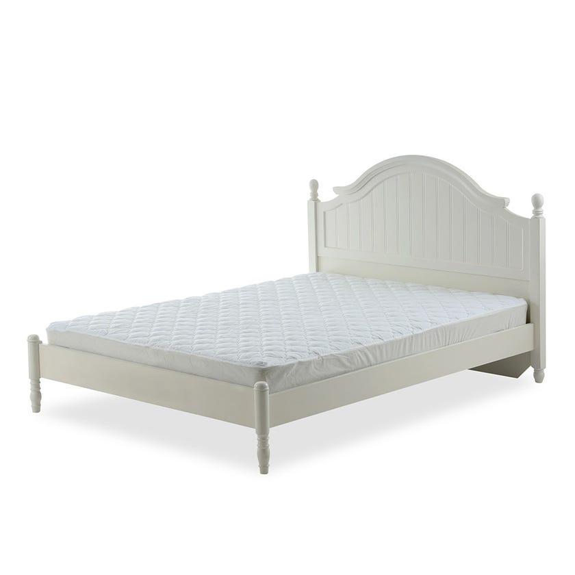 Silent Night Standard Mattress Protector, White - 150x200 cms