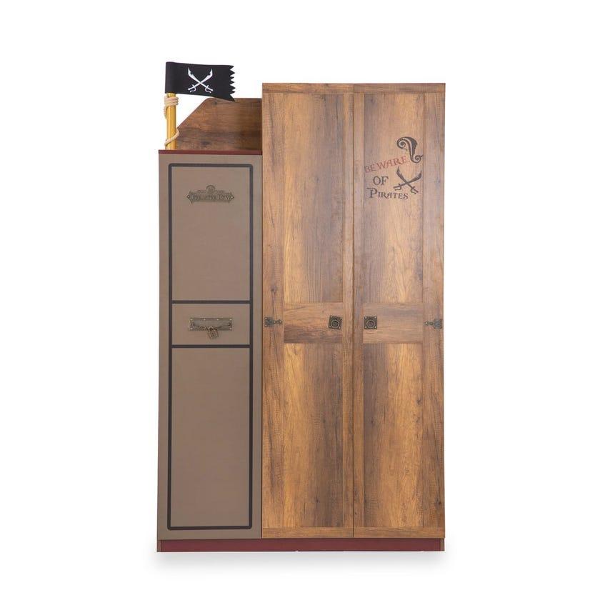 Pirates 3-door Wardrobe - Walnut