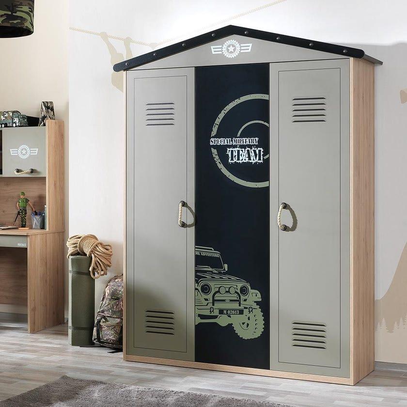 Camp 3-door Wardrobe - Green