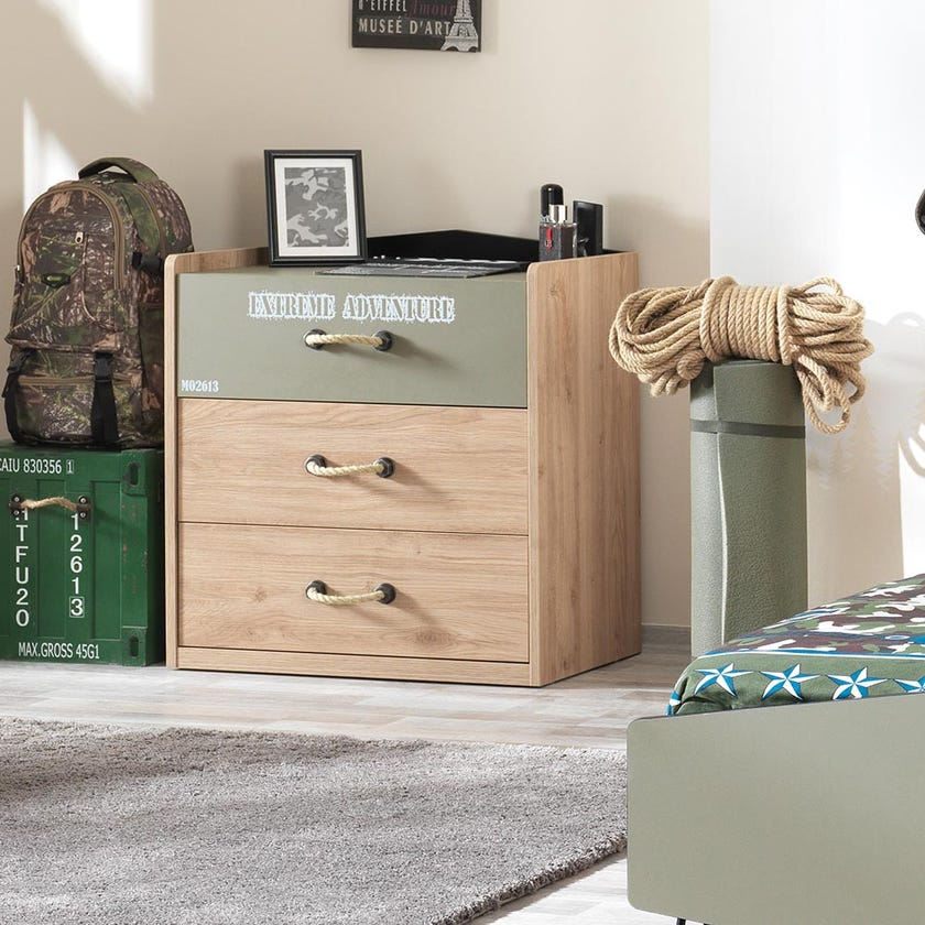 Camp Chest of 3-drawers - Green