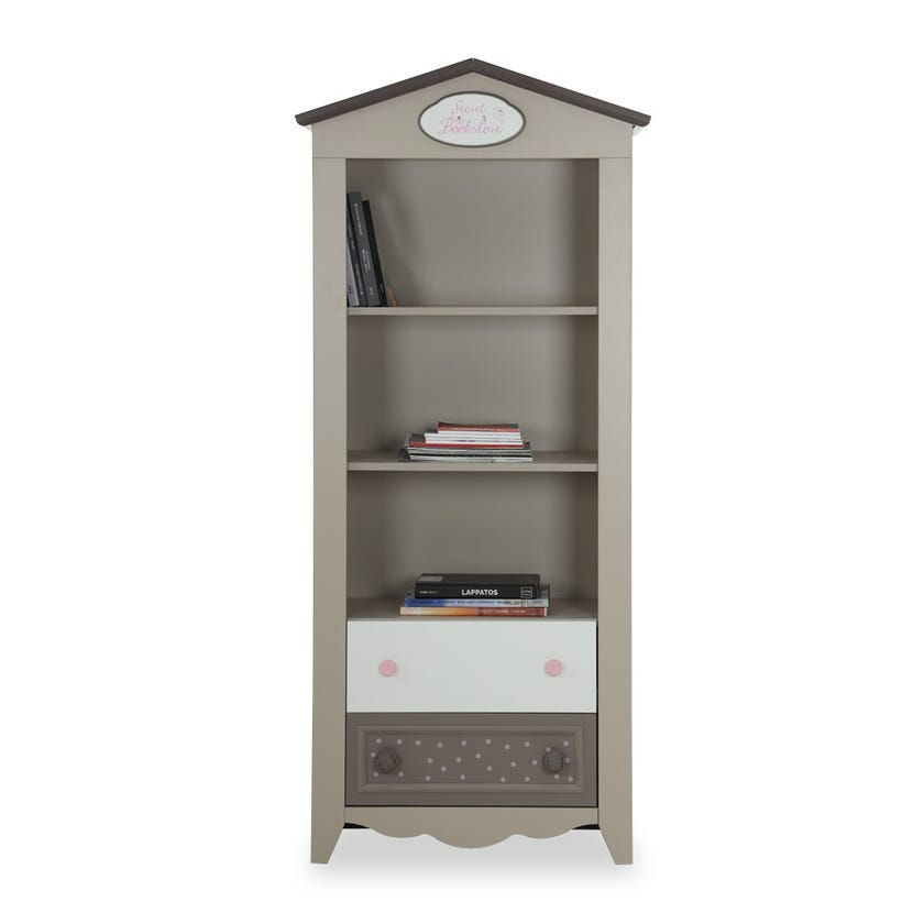 Houses 2-drawer Bookcase - Grey