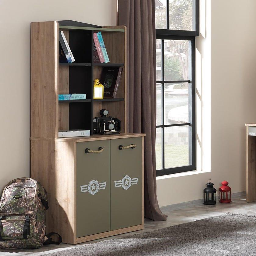 Camp 2-door Bookcase - Green