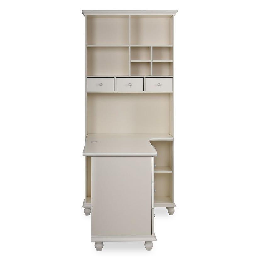 Clovis Wooden Study Desk, White