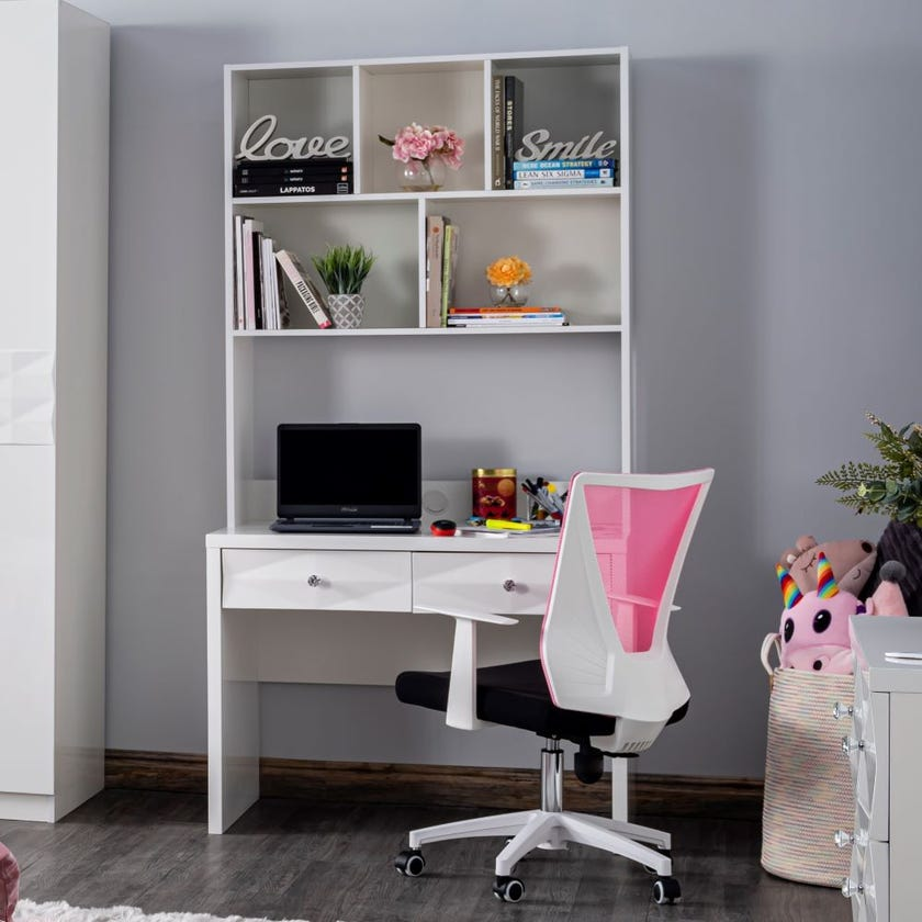 Delmonte Study Desk - White