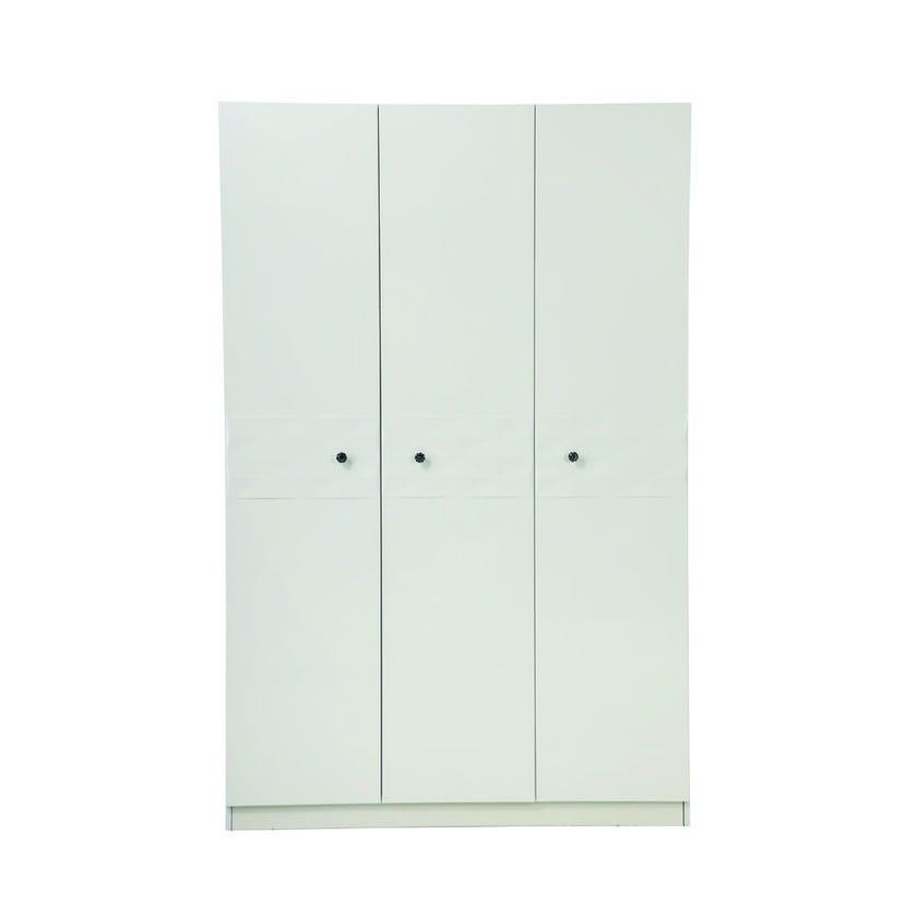 Delmonte Engineered 3-door Wardrobe - White
