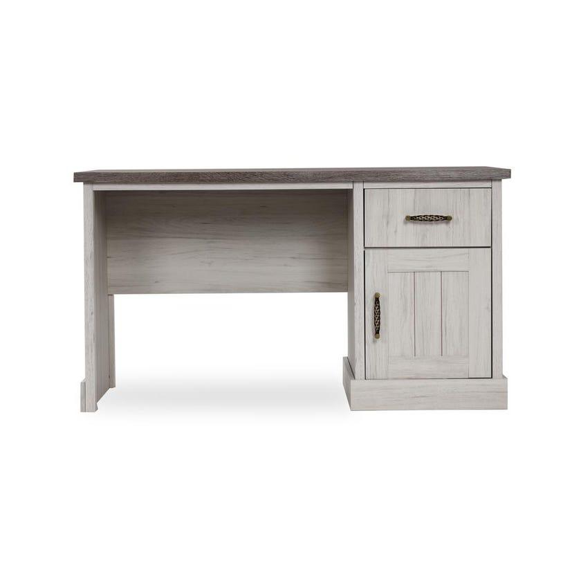 Emily 1-door 1-drawer Writing Desk - Grey