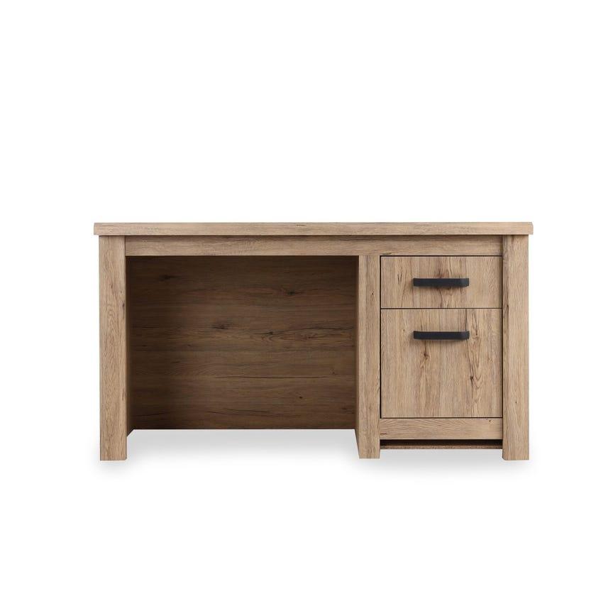 Braxton 1-Drawer 1-Cabinet Writing Desk, Summer Oak