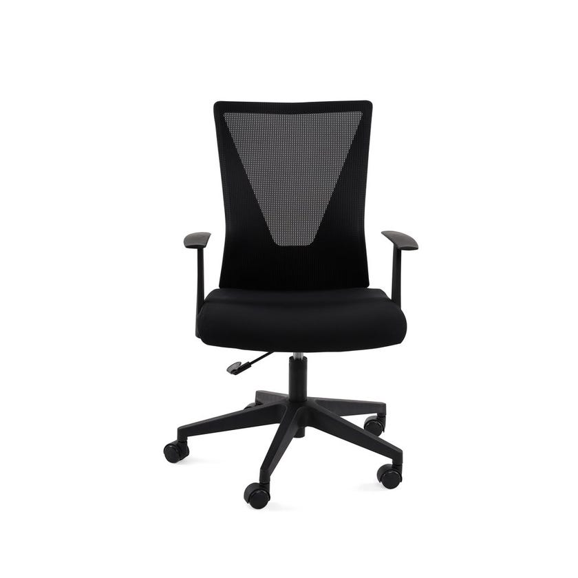Amy Fabric Upholstered Mesh Office Chair - Black