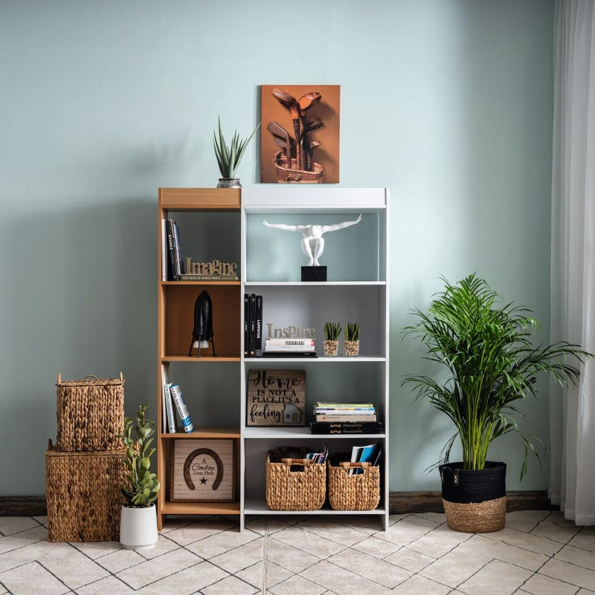 Section Bookcase - White