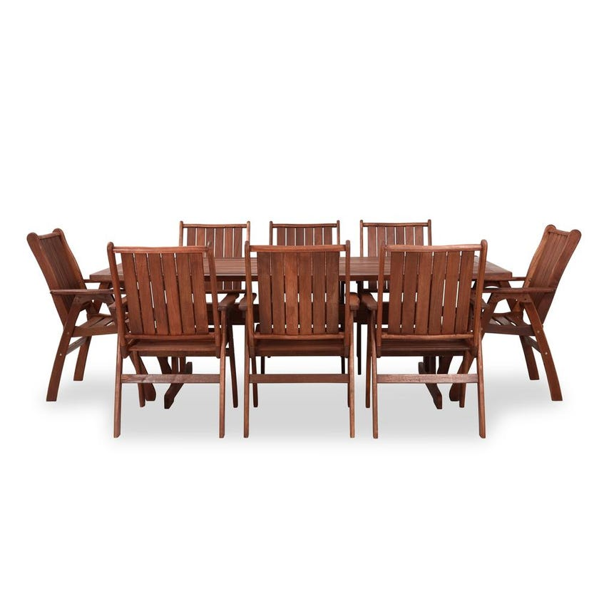 New Kim 8-Seater Outdoor Dining Set with Chairs