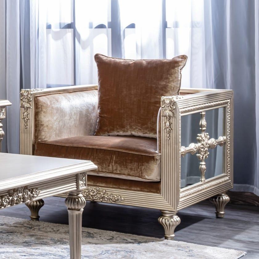 Ramazan Fabric Upholstered Armchair