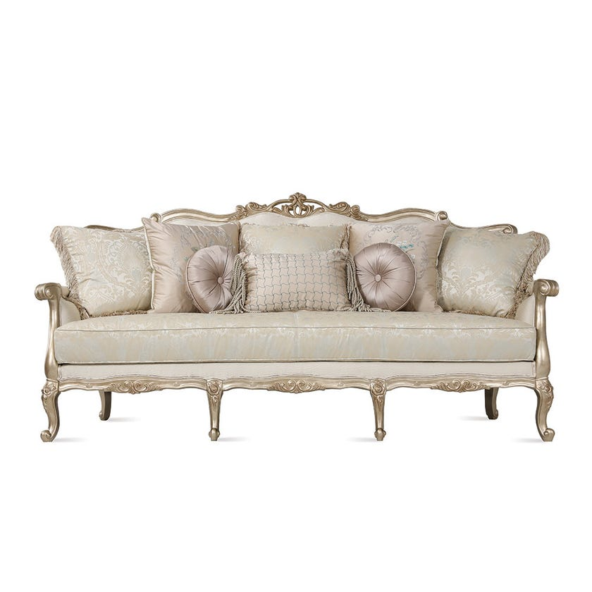 Tunis 3-Seater Fabric Upholstered Sofa