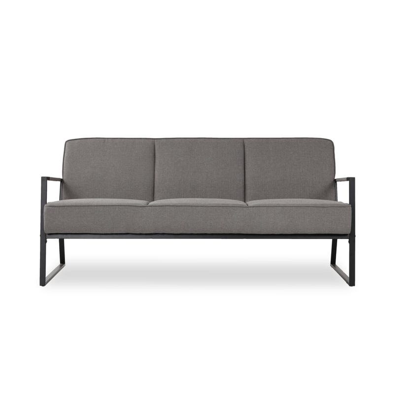 Renca 3-Seater Fabric Upholstered Sofa, Grey