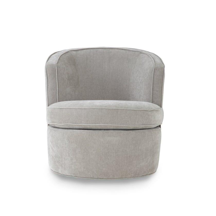 Melanie Fabric Upholstered Armchair - Grey