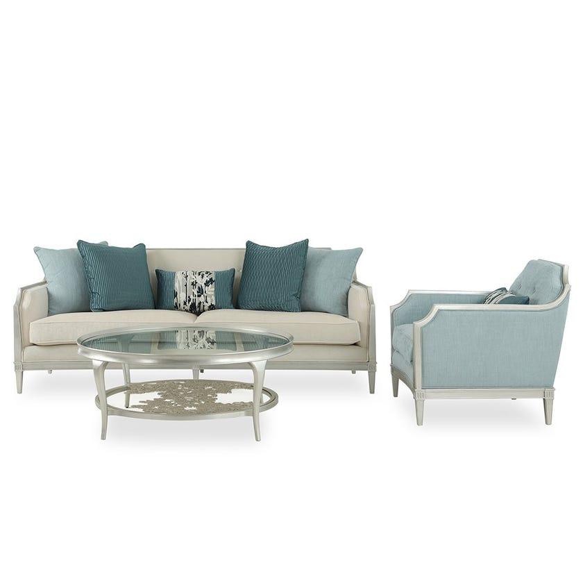 Donna 3-Seater Fabric Sofa, Beige