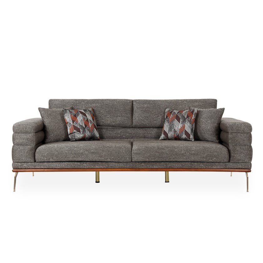 France 3-seater Sofa, Brown