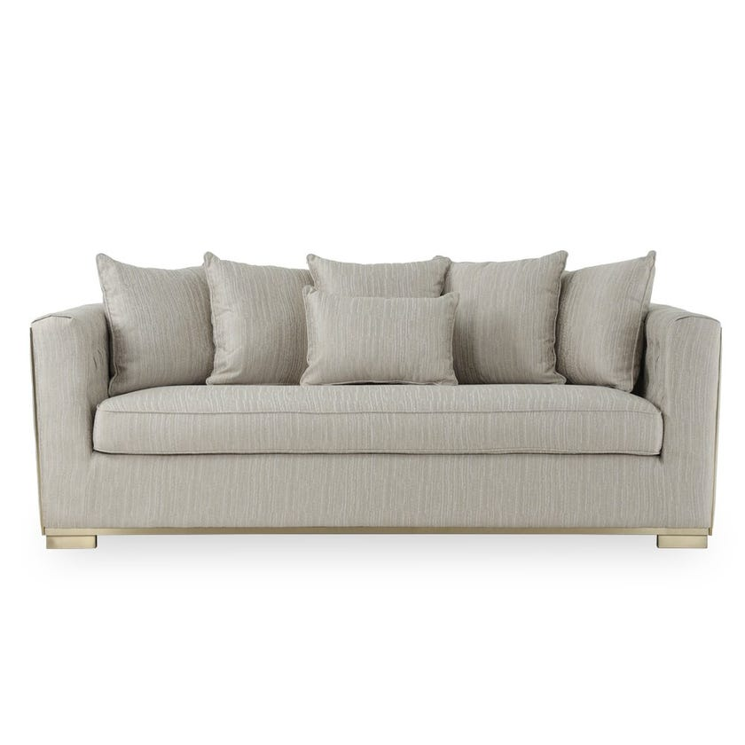 Oliver Fabric Upholstered 3-seater Sofa - Grey