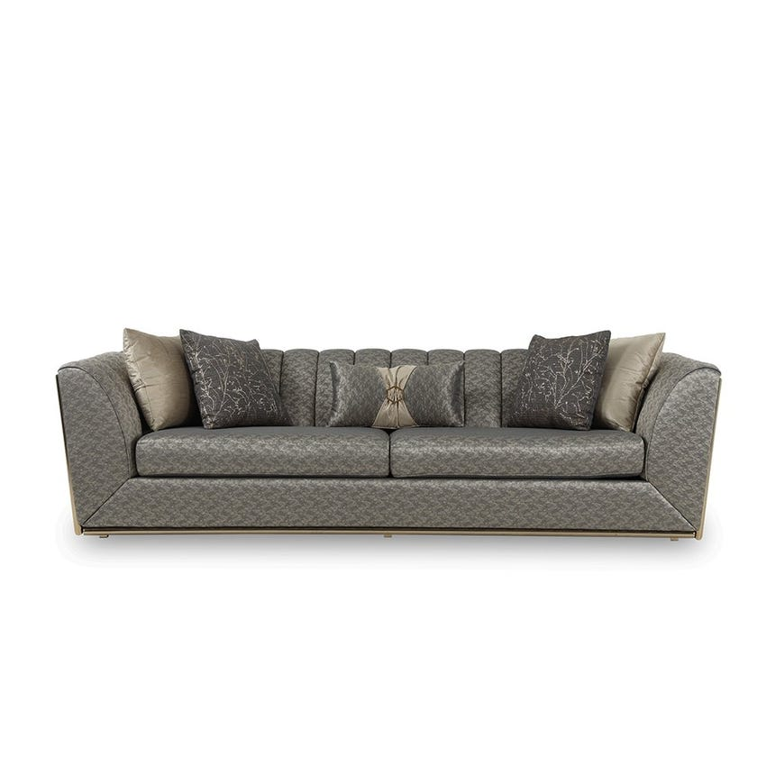 Kate Fabric Upholstered 3-seater Sofa - Grey