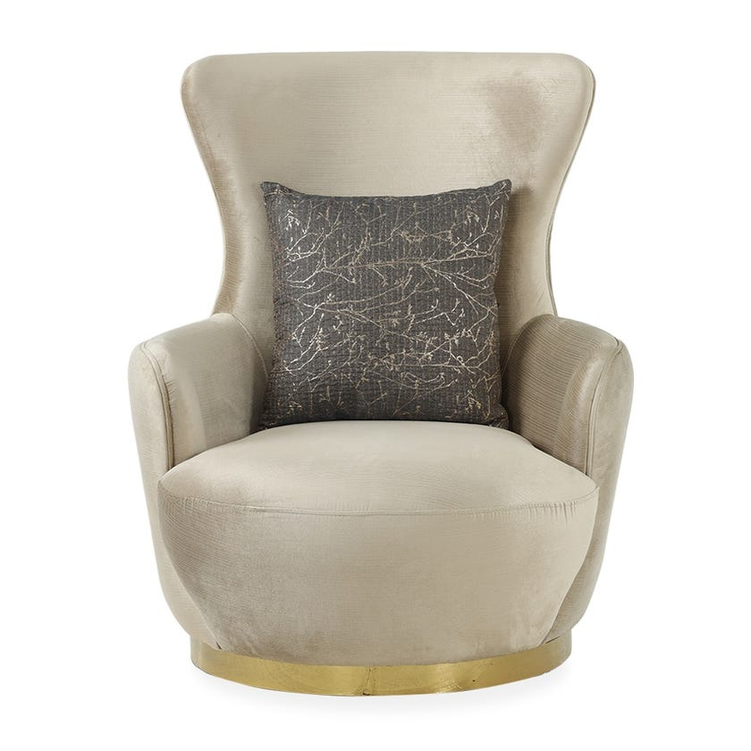 Kate Fabric Upholstered Armchair - Beige