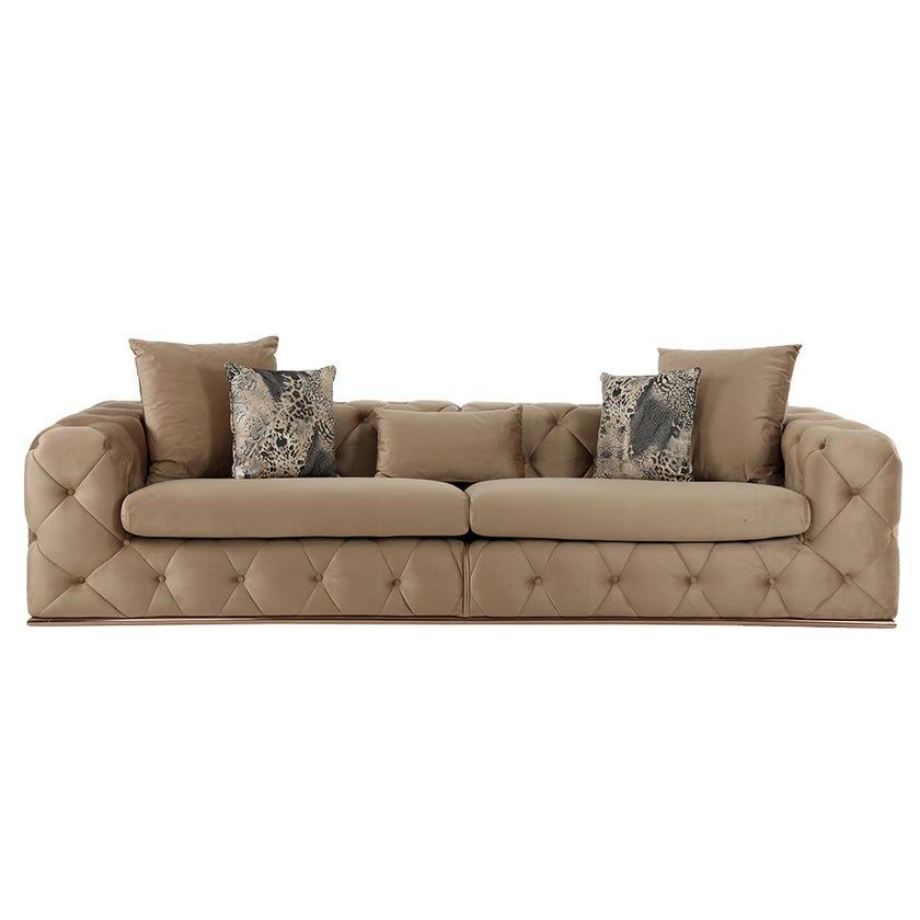 Elegance 4-seater Sofa, Dark Beige