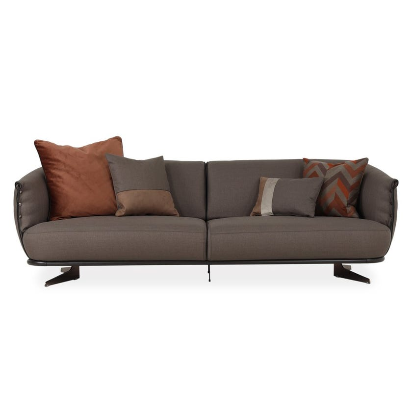 California 4-seater Sofa, Brown