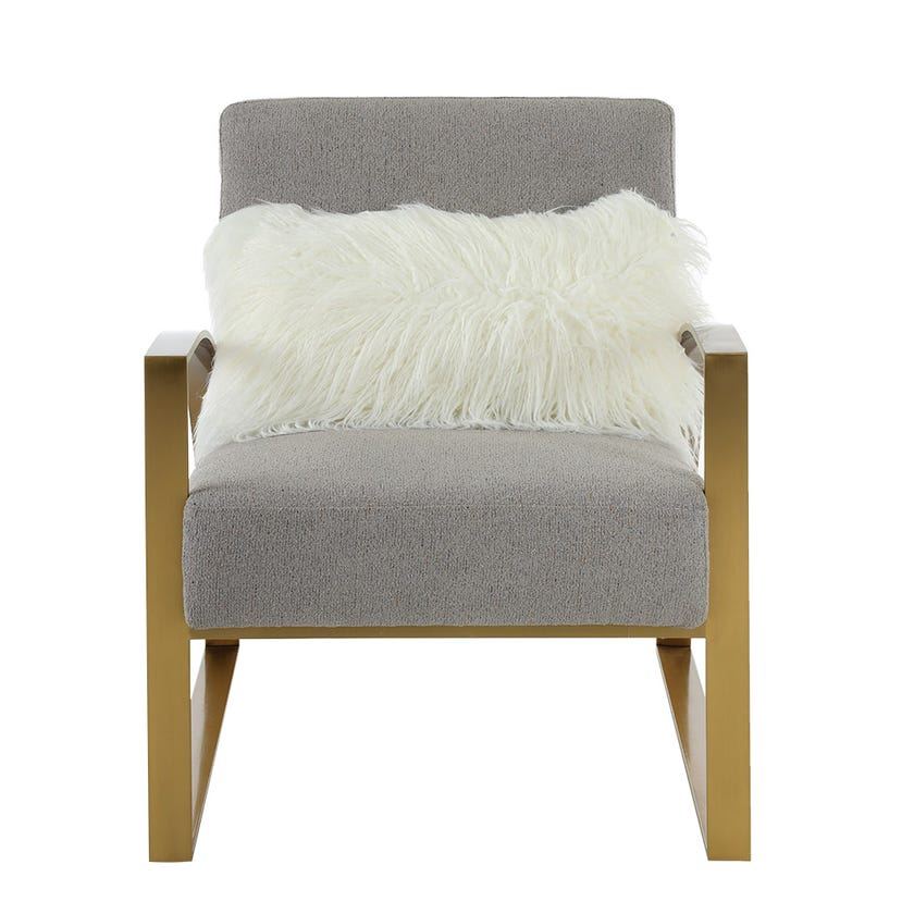 Jazz Armchair, Grey & Gold
