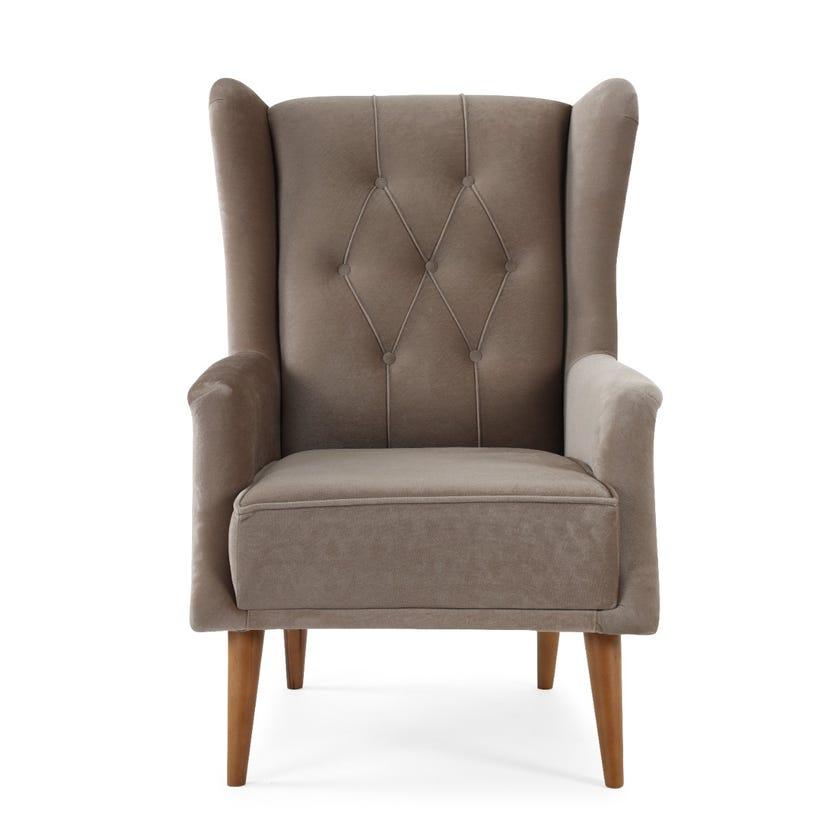 Barcelona Upholstered Armchair, Brown
