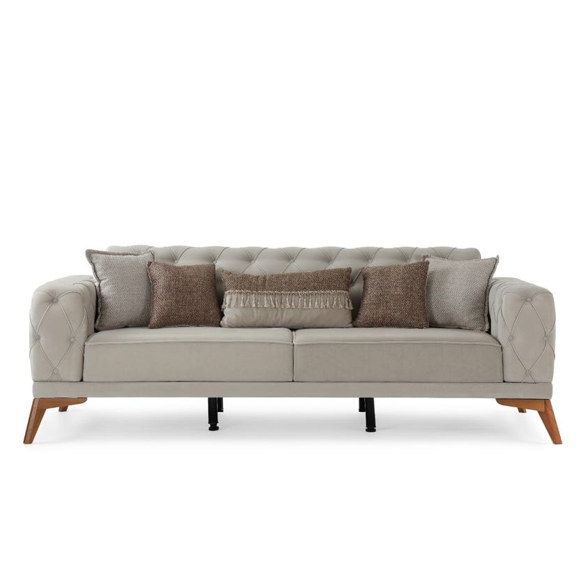 Barcelona 3-Seater Sofa, Beige