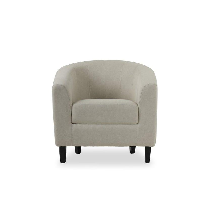 Tulsa Fabric Upholstered Armchair, Beige