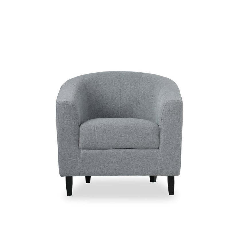 Tulsa Fabric Upholstered Armchair, Grey