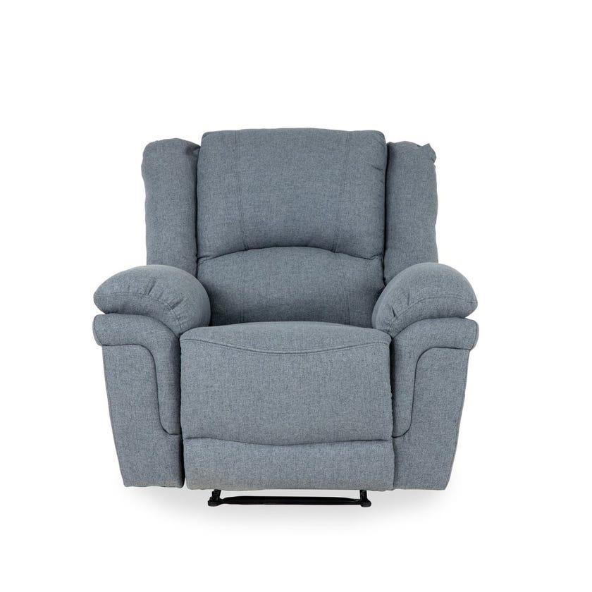 Oscar Fabric Upholstered Recliner Armchair - Grey