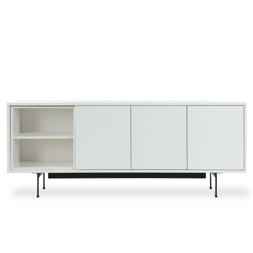 Milan Melamine TV Cabinet - White