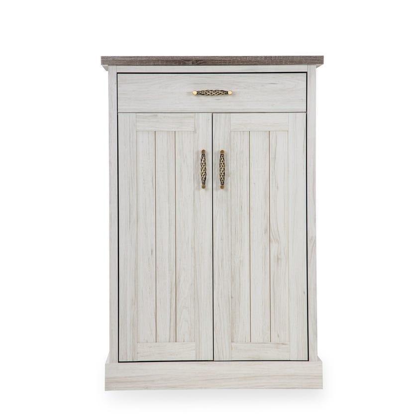 Emily 2-door Shoe Cabinet with 1 Drawer - Grey