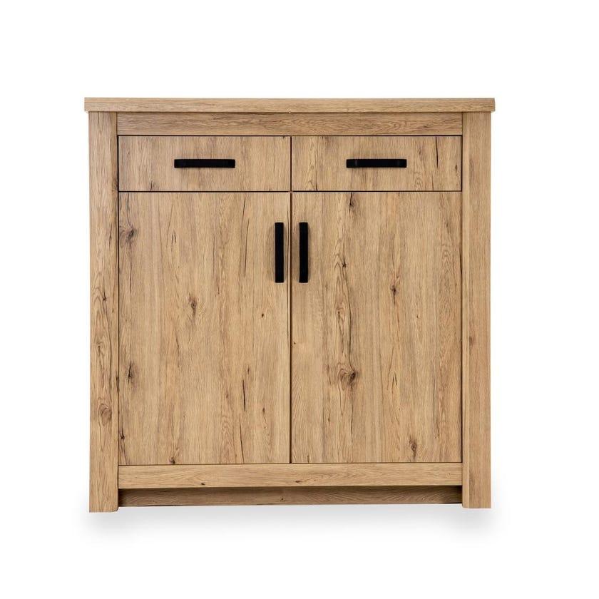 Braxton 2-Door Shoe Cabinet for 21 pairs, Summer Oak