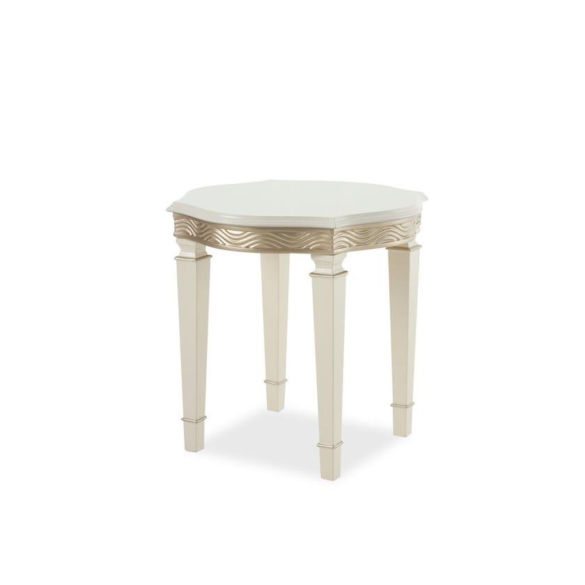 Jensen Engineered Wood End Table - Cream