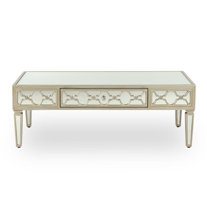 Whitney Mirrored Coffee Table - Gold