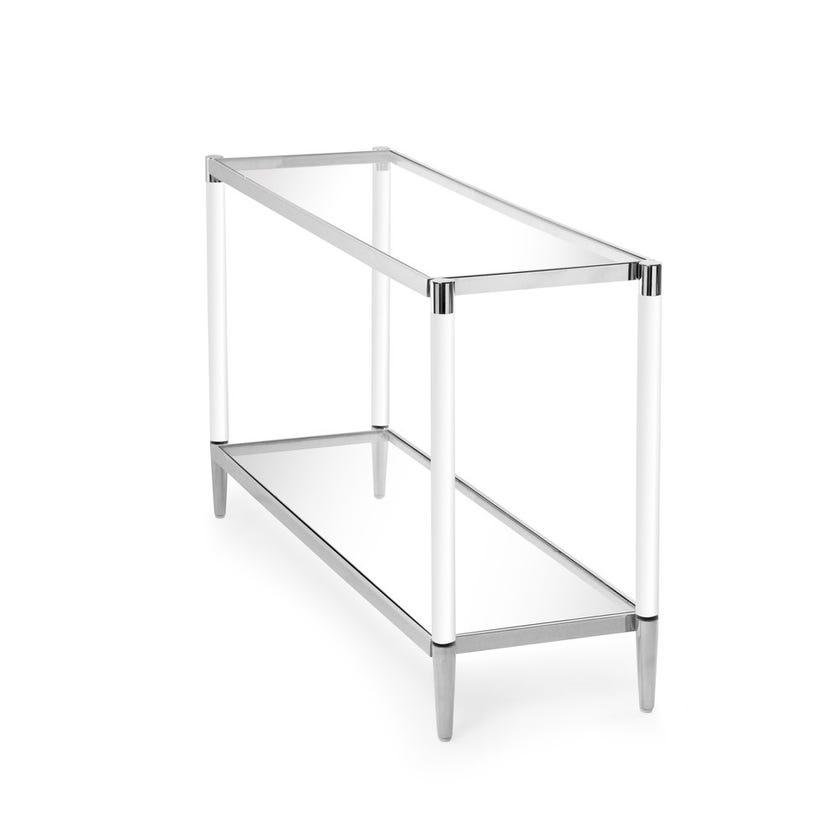 Darren Glass Console Table - Silver