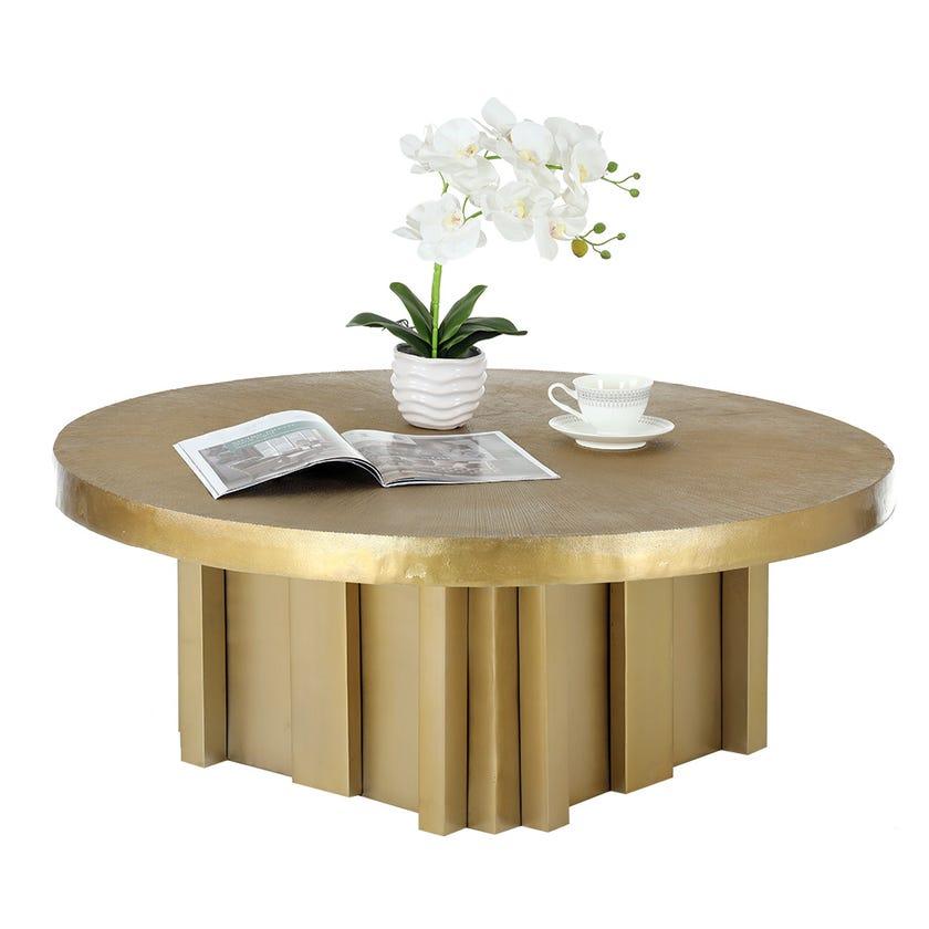 Trinity Coffee Table (Brass Finish)