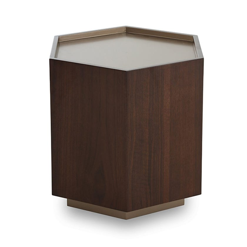 Domino End Table, Brown