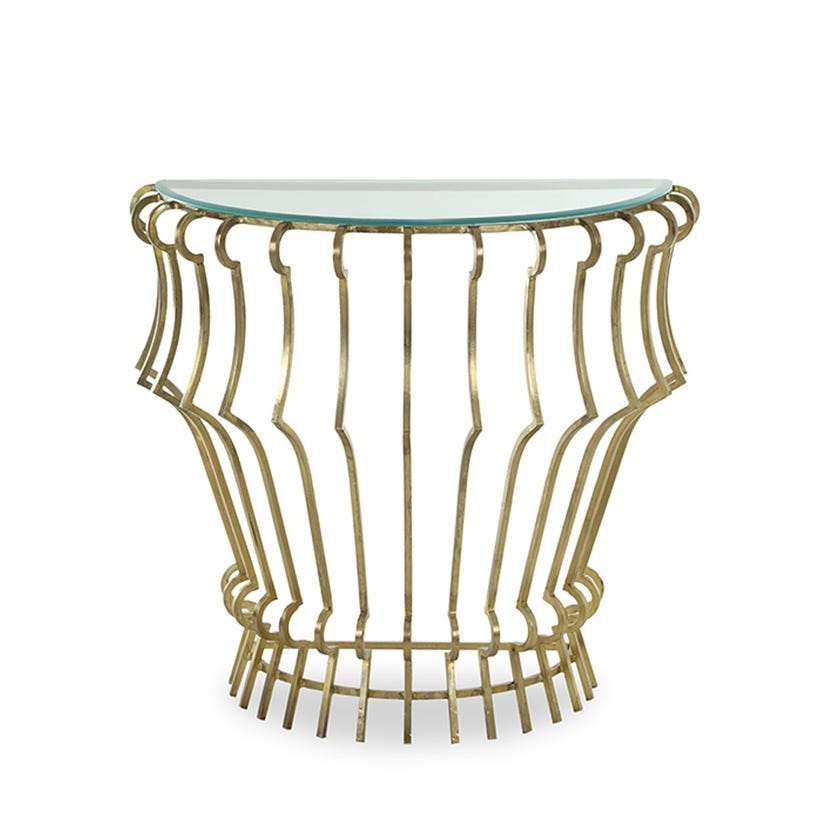 Donahue Metal Console Table - Gold