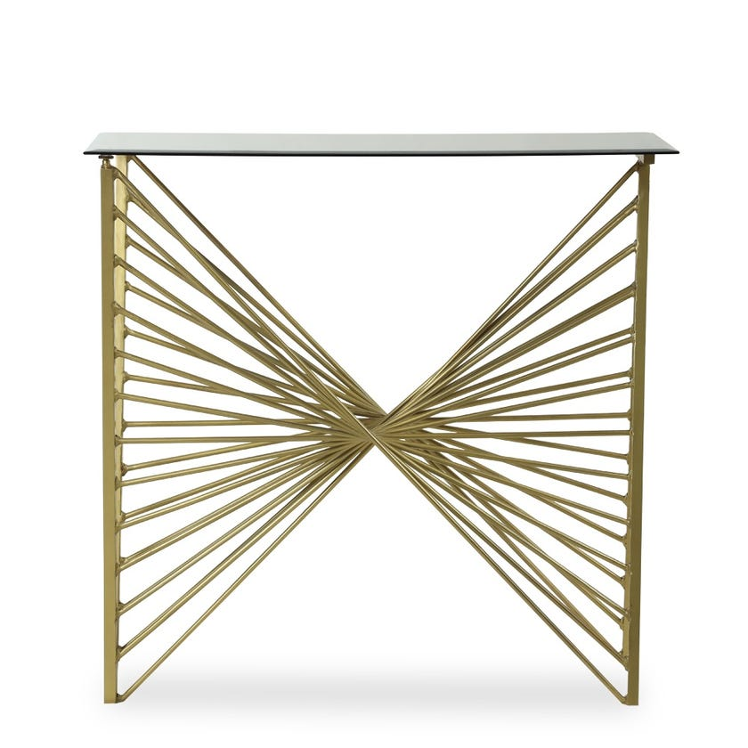 Avalon Metal Console Table - Gold