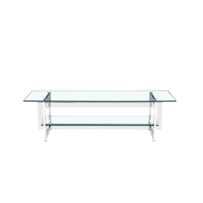 Dazzling Glass Entertainment Unit, Silver