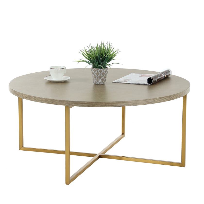 Jazz Coffee Table, Grey and Gold